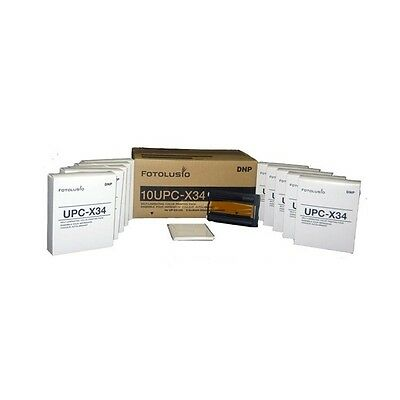 "DNP 10UPC-X34 3.5""x4"" Color Ribbon & Ink Self Laminating Print Pack for Sony"