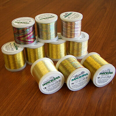 Madeira Professional Metallic Gold Thread 10 Pack