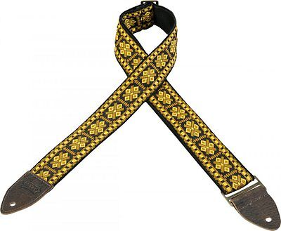 Levy's Guitar Strap VINTAGE Gold Black Diamond Woven Tapestry Levys M8HTV-17 Ace