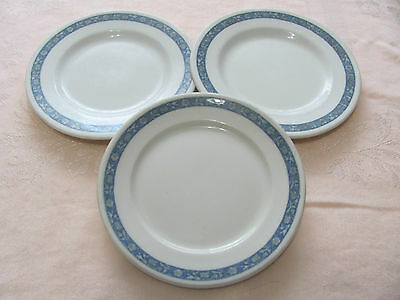 "3 Vintage Lamberton Scammell's United Hotels Co Restaurant Ware 6 1/2"" Plates"