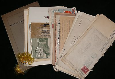 Large Collection Letters 1930 Flight Aviation Travel Exploration Byrd Airlines