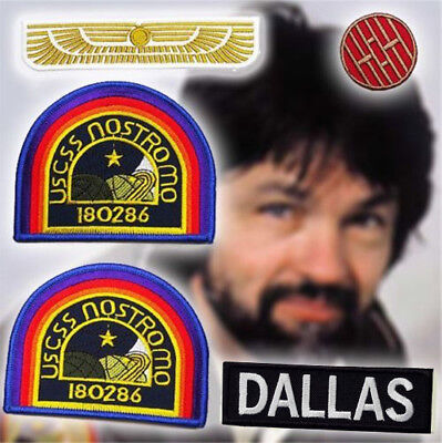 ALIEN / ALIENS Nostromo Captain Patch Set (DALLAS) - Set of 5 Jacket Patches NEW
