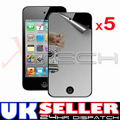 5 x MIRROR Reflective LCD Screen Protector Guards for Apple iPod Touch 4 4th Gen