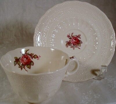 Spode Billingsley Rose Cup and Saucer