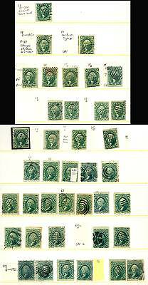 13//96, COLLECTION OF CLASSIC 10¢ GREENS Cat $7,000.00