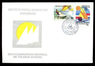 Dominican Republic 1996 Dinghy Sailing Championships FDC #C5482
