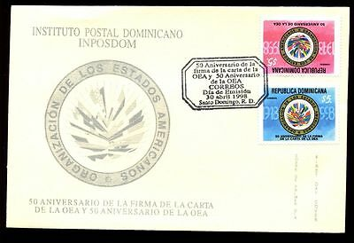 Dominican Republic 1998 Organisation Of American States FDC #C5555