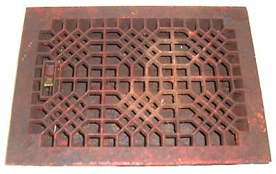 "13.75 x9.75"" Heat Grate/Register/Grill Antique RUSTIC PETINA #4703"
