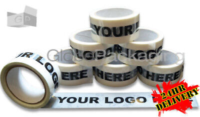 144 Rolls Of Bespoke Custom Printed Personalised Vinyl Packing Tape With Logo
