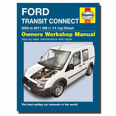 Haynes Manual Ford Transit Connect Diesel (02 - 11) Workshop Manuals, Book 4903