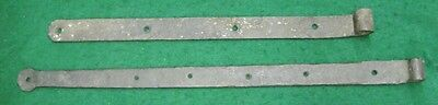 Pair of Antique Door Barn Strap Hinges Wroght Iron 1444-13