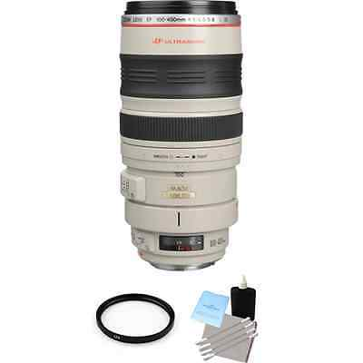 Canon EF 100-400mm F/4.5-5.6 L IS USM Lens + UV Filter & Lens Cleaning Kit