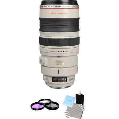 Canon EF 100-400mm F/4.5-5.6 L IS USM Lens + 3 pc. Filter Kit, Lens Cleaning Kit