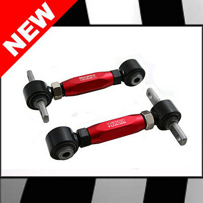 WICKED TUNING 88-00 HONDA CIVIC, 88-91 CRX, 93-97 DEL SOL REAR CAMBER ARMS - RED