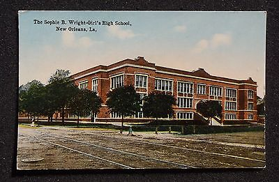 1910s The Sophie B. Wright Girl's High School New Orleans LA Orleans Co Postcard