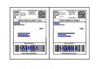 200 Self Adhesive 8.5 x 11 Shipping Labels for UPS USPS FEDEX PAYPAL FREE SHIP