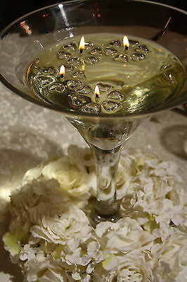 50 Clear Candle Floaters & 50 Long Burning Wicks Wedding Table Centrepieces