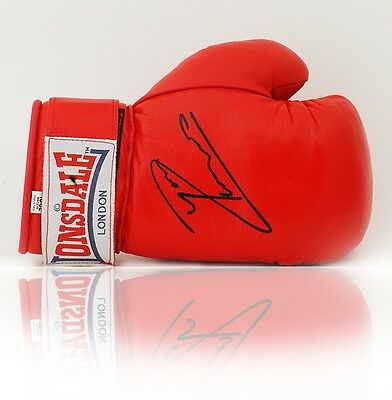RARE! Ryan Rhodes Hand Signed 12oz Everlast Boxing Glove AFTAL COA