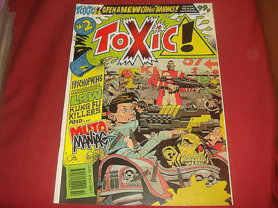 TOXIC #2 2000 AD A.D. Spin-off UK Comic 1991 Kev O'Neill Marshal Law