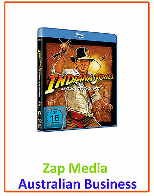 Indiana Jones - Complete Blu Ray Collection - Films 1, 2, 3 & 4 - Brand New