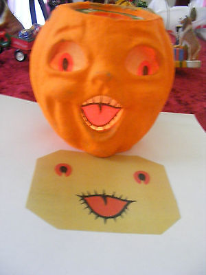 Replacement Face For  Halloween Paper Mache Pumpkin New 'small'