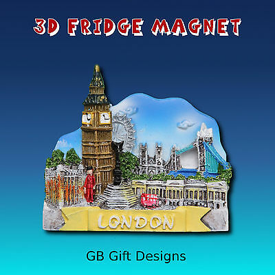 3D London Collage Fridge Magnet Icon Novelty Holiday Souvenir
