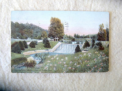 Springfield, Massachusetts.  View in Forest Park. - EARLY 1900'S POST CARD- 1909