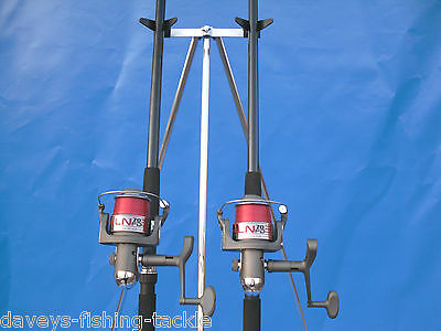 Sea Fishing Kit Set 2 Ngt 12Ft Beachcaster Rods 2 Ln70 Reels+6Ft Parker Tripod