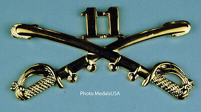 11th Cavalry Crossed Sabers Large Hat Pin 0221