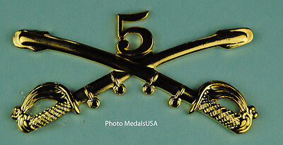5th Cavalry Crossed Sabers Large Hat Pin 0221