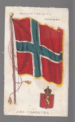 [35379] Old Tobacco Silk Zira Cigarettes Flag Of Norway
