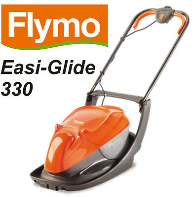FLYMO Easi Glide 330 1400w HOVER MOWER 33cm Metal Blade, Collection Box