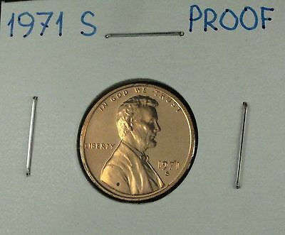1971 S Proof Lincoln Memorial Cent Nice Toning From Mint Proof Set Bras Clad