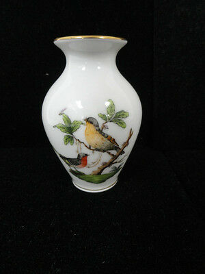 10% OFF! small Herend small birds and butterfly gold rim vase