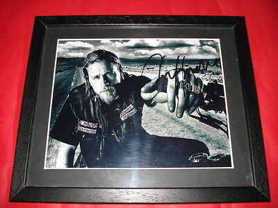 Charlie Hunnam Signed Framed Photo Jax Sons Of Anarchy