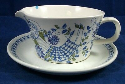 Figgjo LOTTE (NORWAY) Gravy Boat (as is)  with Underplate