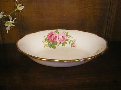 Excellent VINTAGE Royal Albert AMERICAN BEAUTY oval DISH/BOWL - 23.5cms