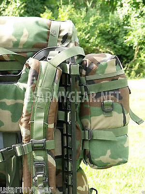 Nice Set Lot of 2 US Army Molle II Woodland Camouflage Sustainment Pouches VGC