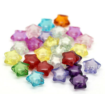 "200PCs Mixed Acrylic Spacer Beads, Bead in Bead,12mmx11mm(4/8""x 3/8"")"