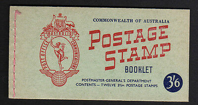 AUSTRALIA 1953 3/6d COMPLETE BOOKLET SB32a WITH INTERLEAVES.