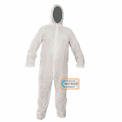 Disposable White Overall Protective Painting Decorating Coverall Suit ALL SIZES