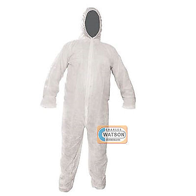 XXL 146cm Disposable White Overall Protective Painting Decorating Coverall Suit