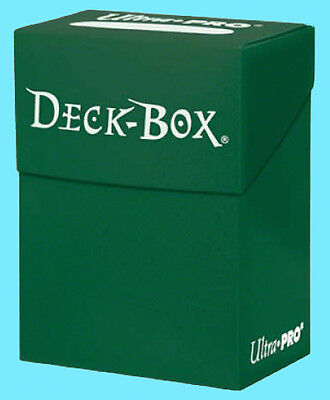Ultra Pro DECK BOX GREEN Card Holder NEW Standard & Small Size Storage Case mtg