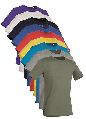 Hanes Stedman Plain No Logo 100% Cotton Slim Fit T-Shirt Tee Shirt Tshirt