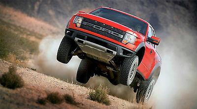"""FORD RAPTOR RED TRUCK SVT F-150  43/"""" x 24/"""" LARGE HD WALL POSTER PRINT NEW"""
