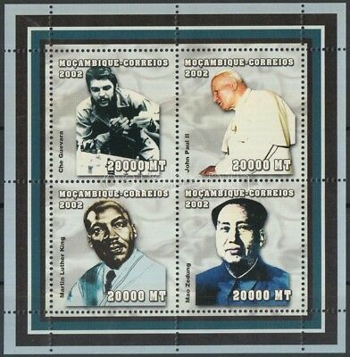 Mozambique stamp Famous people - chess mini-sheet MNH 2002 Mi 2495-2498 WS117185