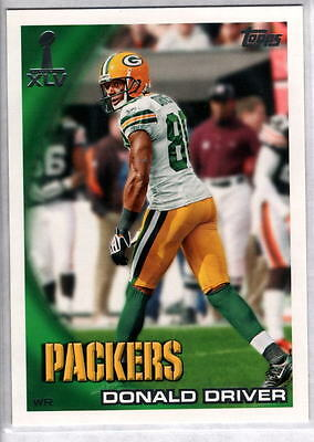 DONALD DRIVER 2010 Topps Super Bowl #4