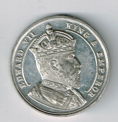 King Edward Vii Coronation Medal Born 1841, Accession 1901, Crowned 1902(Td-192)