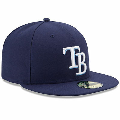 New Era 5950 TAMPA BAY RAYS Game Dark Blue Cap Fitted 59FIFTY MLB Baseball Hat