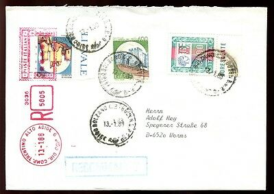Italy 1988 Registered Cover To Germany #C6375
